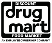 Discount drug mart logo black and white