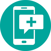 small telehealth phone icon