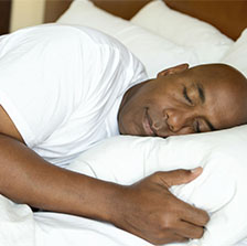 Picture of man getting good night's sleep