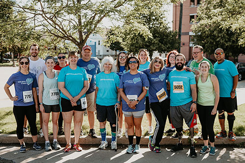 Trauma Recovery Center Peer Visitors celebrate the 2019 Resiliency Run